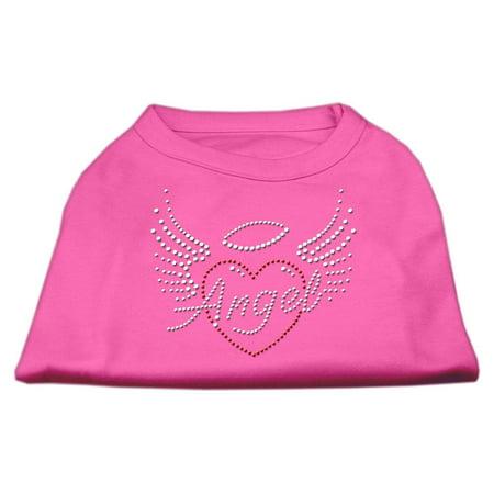 angel heart rhinestone dog shirt bright pink xs (8)