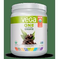 Vega One Organic All-in-One Plant Protein Powder, Chocolate, 20g Protein, 0.8lb, 13.2oz