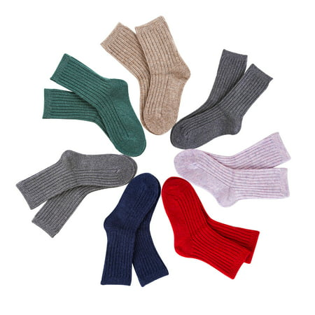 Lovely Annie Children's 6 Pairs Pack Wool Socks Size 3Y-6Y Random Boy Color (Six Pack Annie)