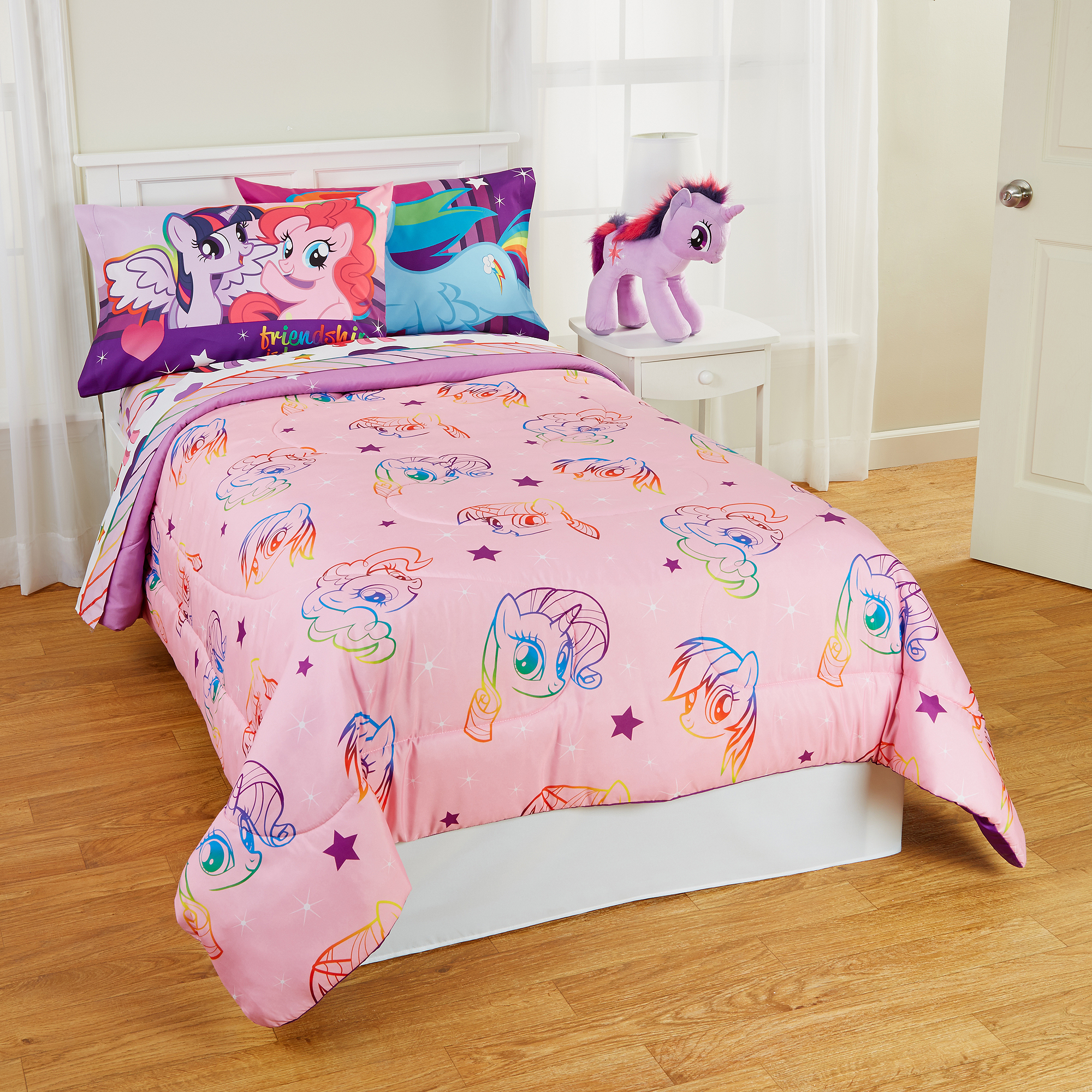 Pony Bedroom Accessories My Little Pony Twin Full Bedding Comforter Walmartcom