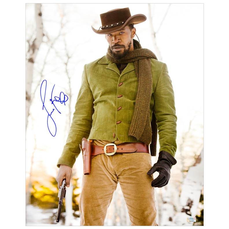 Jamie Foxx Autographed 16?20 Django Unchained Photo