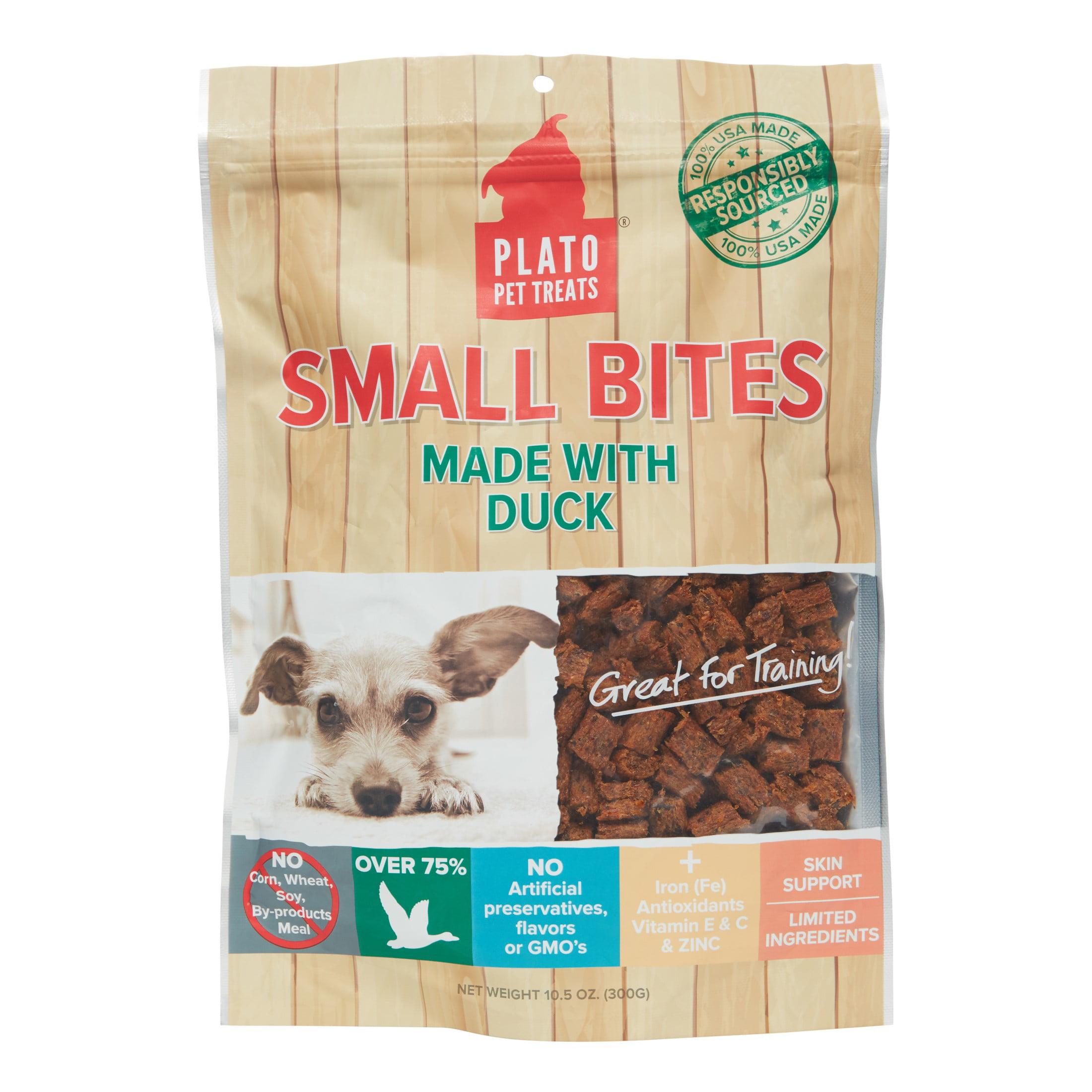 Plato Small Bites Grain-Free Duck Dog Treats, 10.5 Oz by KDR Pet Treats, LLC