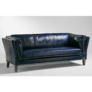 Lazzaro Alberta Leather Sofa in Charcoal