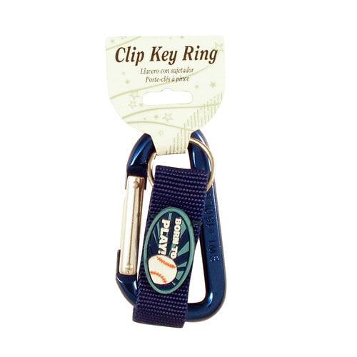 Baseball C-Clip Key Ring