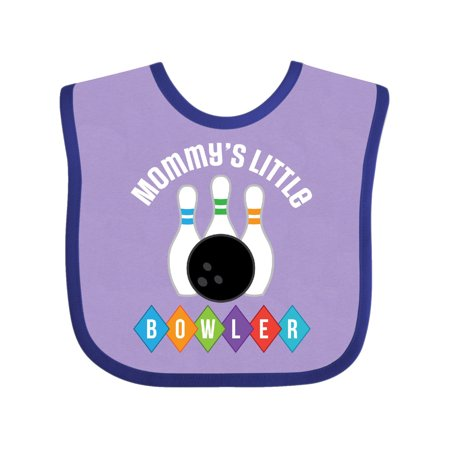 Bowling Mommys Little Bowler Outfit Baby Bib - Bubble Blowing Double Baby
