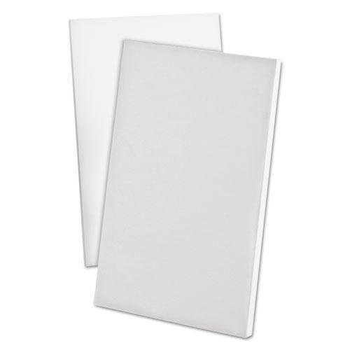 "Ampad Scratch Pad Notebook, Unruled, 5"" x 8"", White, 100-Sheet, Dozen"