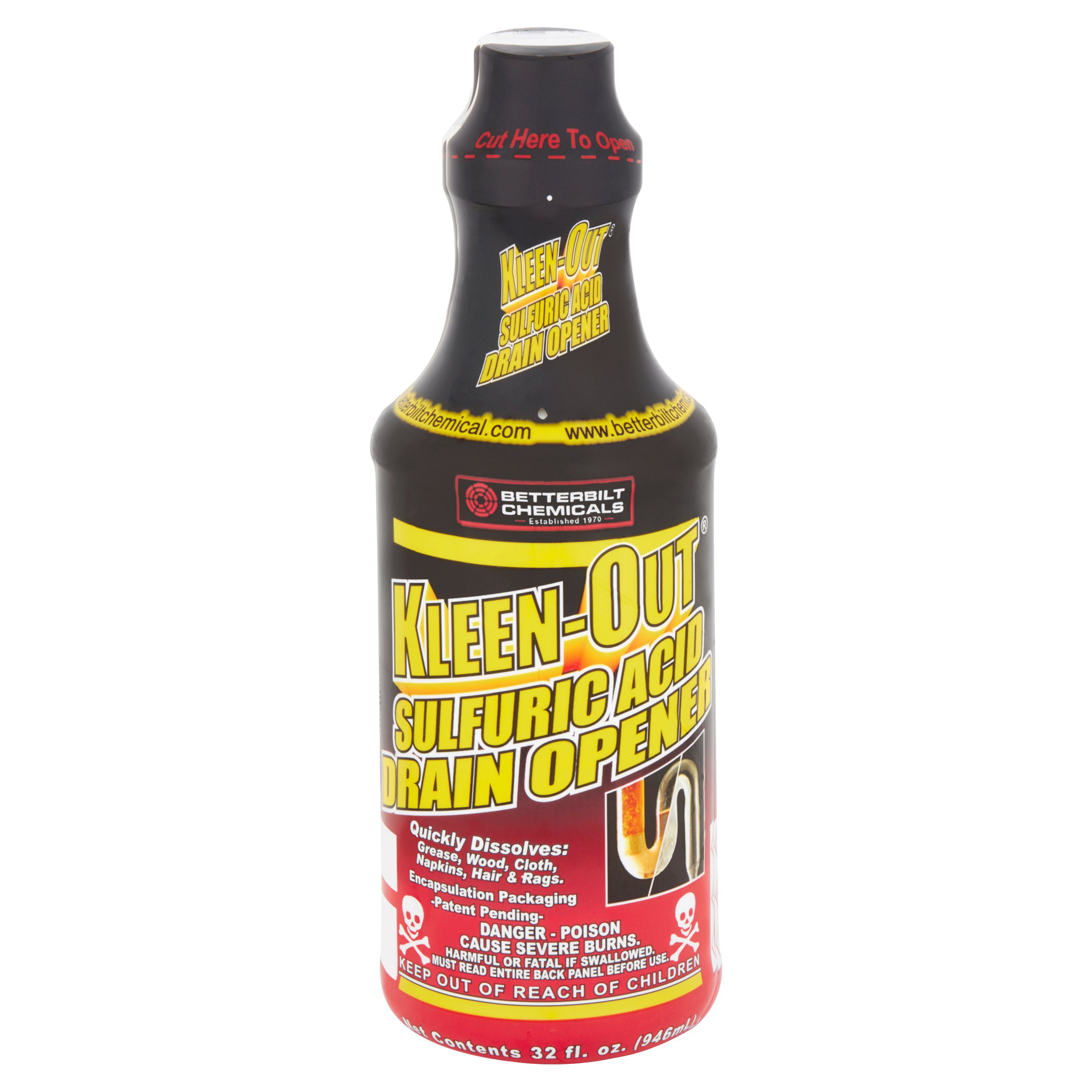 Kleen Out Sulfuric Acid Drain Opener Instructions Best