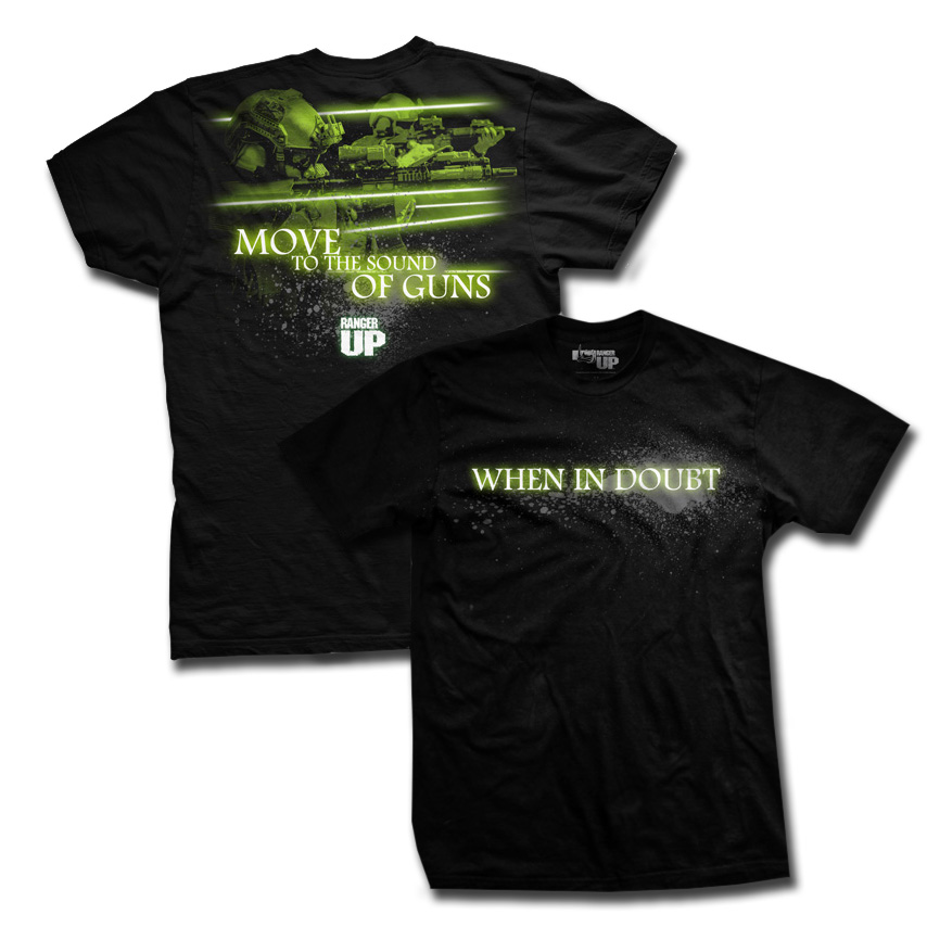 Ranger Up Sound Of The Guns T-Shirt - Black