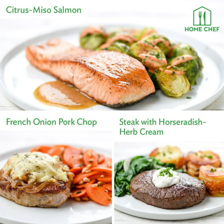 Home Chef Meal Kits, No Gluten Dinner for 2. 3 Meals