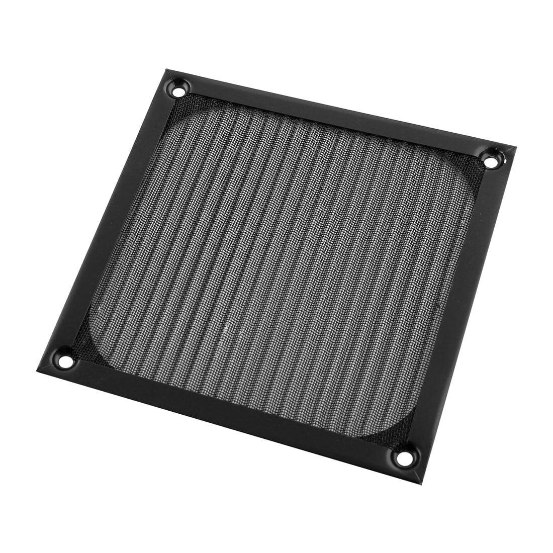 Square Black Aluminum Dustproof Mesh Filter for 120mm PC Cooler Fan