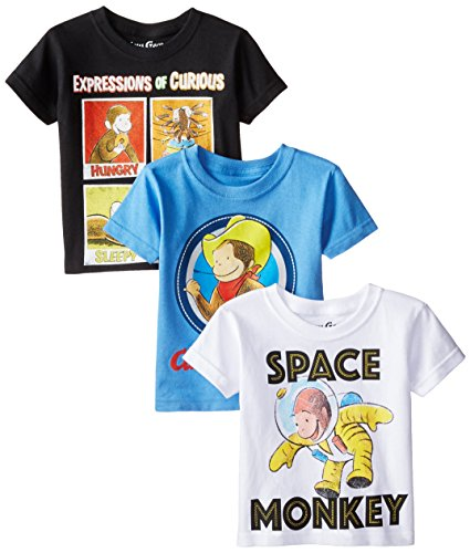 Curious George Toddler Boys' Value Pack Tee Shirts, Assorted, 3T