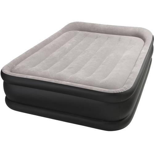Intex Deluxe Raised Pillow Rest Airbed Mattress with Built in Pump, Multiple Sizes