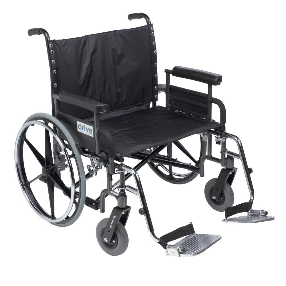Drive Medical Deluxe Sentra With Full Arm and Footrests 28""