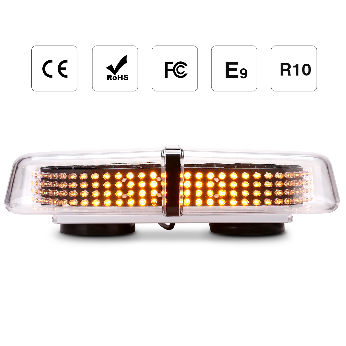 "12/"" 24 LED Warning Emergency Double Side Beacon Strobe Roof Mini Lightbar Amber"