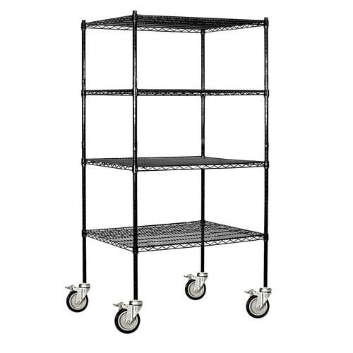 Salsbury Industries Wire 4 Shelf Shelving Unit Mobile