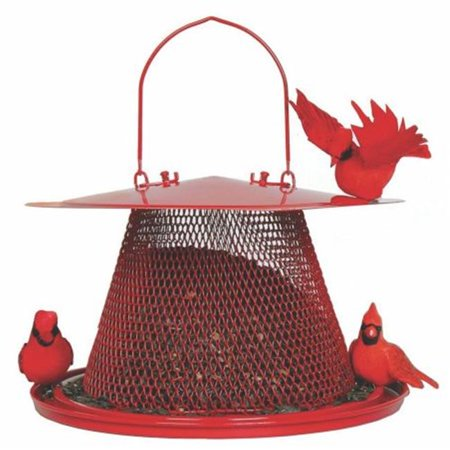No-no Cardinal Feeder- Red - C00322 (Best Squirrel Proof Bird Feeder For Cardinals)