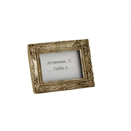 Work of Art Antique-Finish Place Card Holder/Photo Frame (Snowflake Place Card Frames)