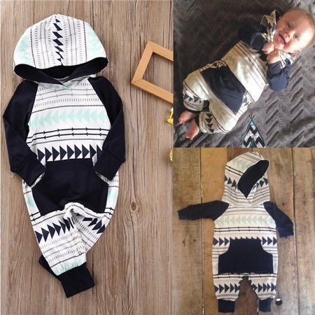 NEW Baby Boys Girls Infant Hooded Xmas Gift Romper Jumpsuit Bodysuit Clothes Outfits