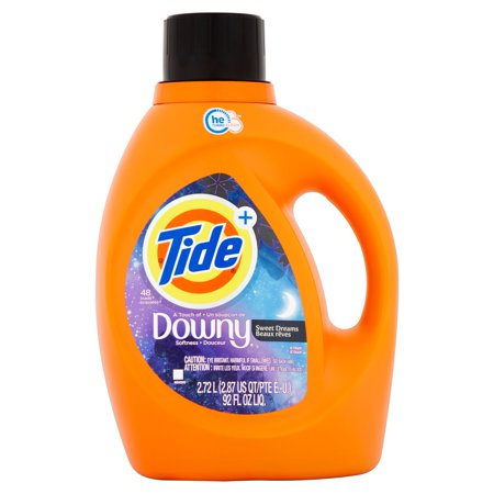 Tide Plus Downy Sweet Dreams He Turbo Clean Liquid Laundry Detergent  48 Loads 92 Oz