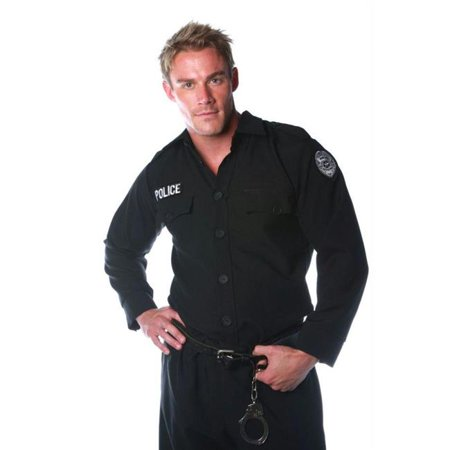 Costumes For All Occasions Ur29010 Police Shirt Mens One Size - Police Costume For Men