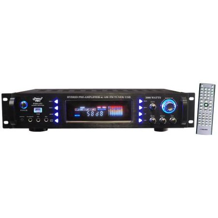 PYLE AUDIO PYLP3201ATUB 3000-Watt Hybrid Home Stereo Receiver Amp with AM FM Tuner And USB by