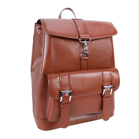 McKlein HAGEN, Laptop Backpack, Top Grain Cowhide Leather, Brown (88024)