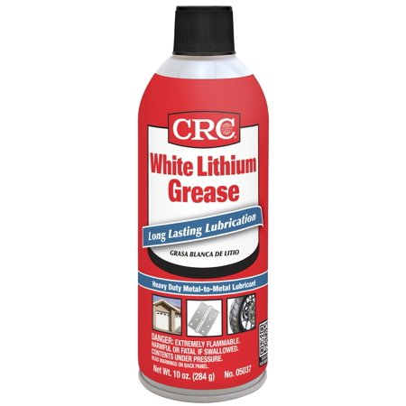 CRC Industries 5037 White Lithium Grease  Long Lasting Lubrication- Wt. 10 oz.