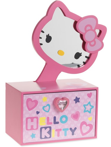 Hello Kittyjewelry Box W Mirror Walmartcom
