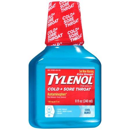 Maximum strength tylenol sore throat adult liquid