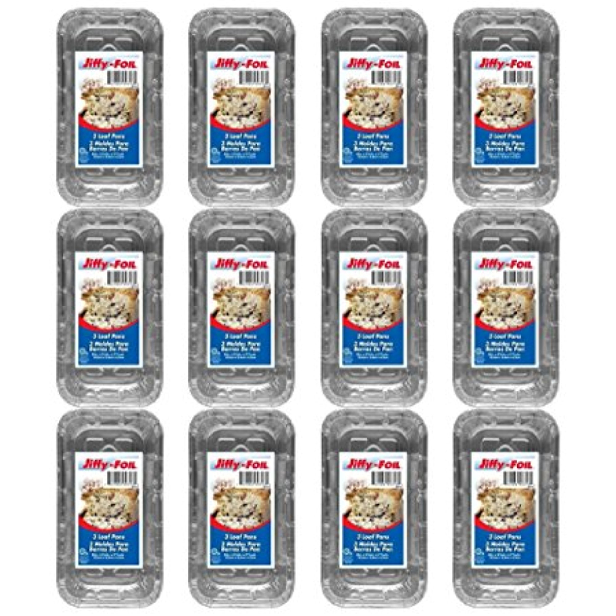 "Set of 36 Jiffy Foil Disposable Aluminum 8"" Loaf Pans (36)"