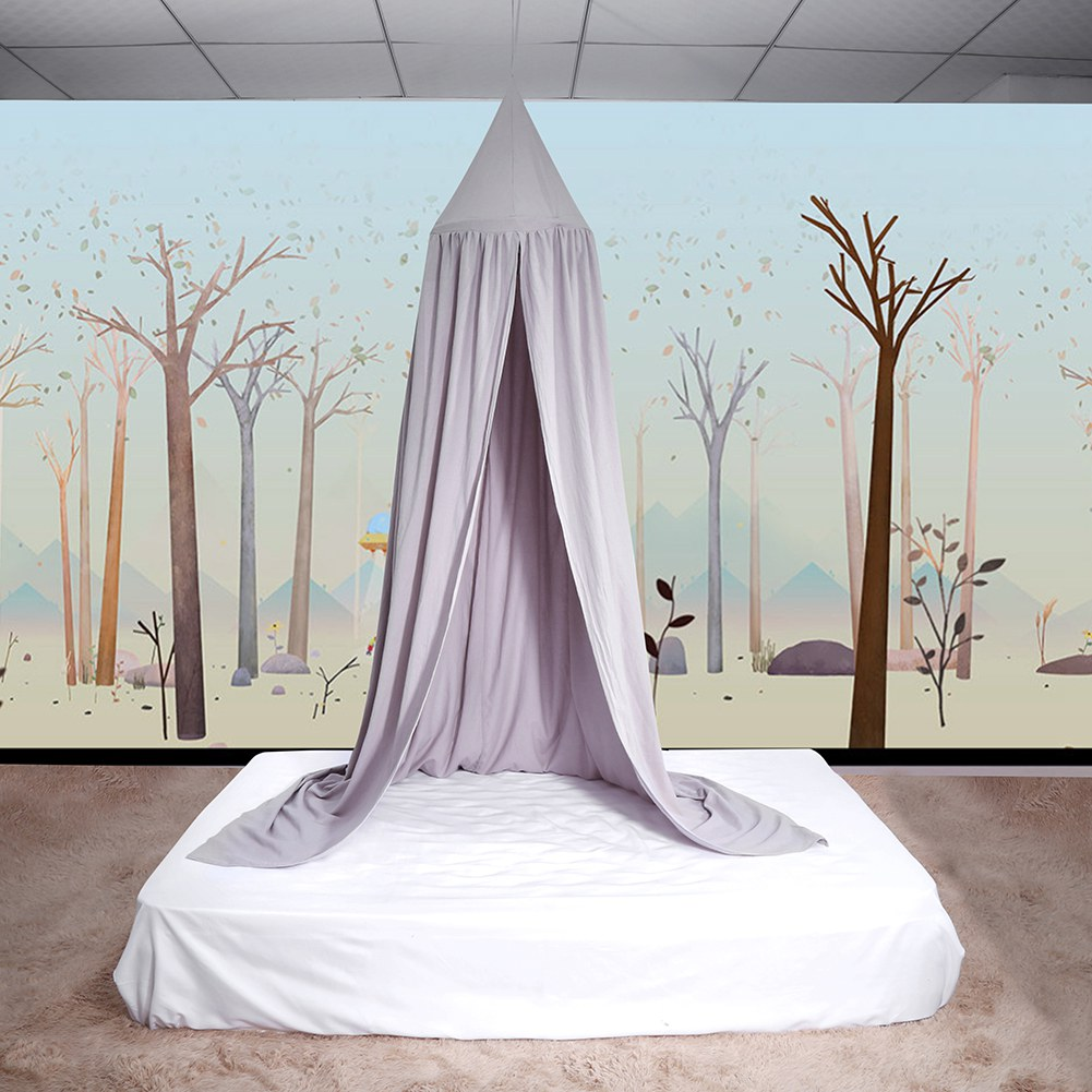 Canopy Curtains,HURRISE Round Dome Hanging Bed Canopy Mosquito Net Curtain for Baby Kids Reading Playing