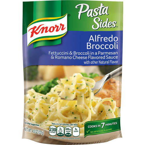 Knorr Pasta Sides Fettuccini & Broccoli In A Creamy Parmesan & Romano Cheese Sauce, 4.5 Oz