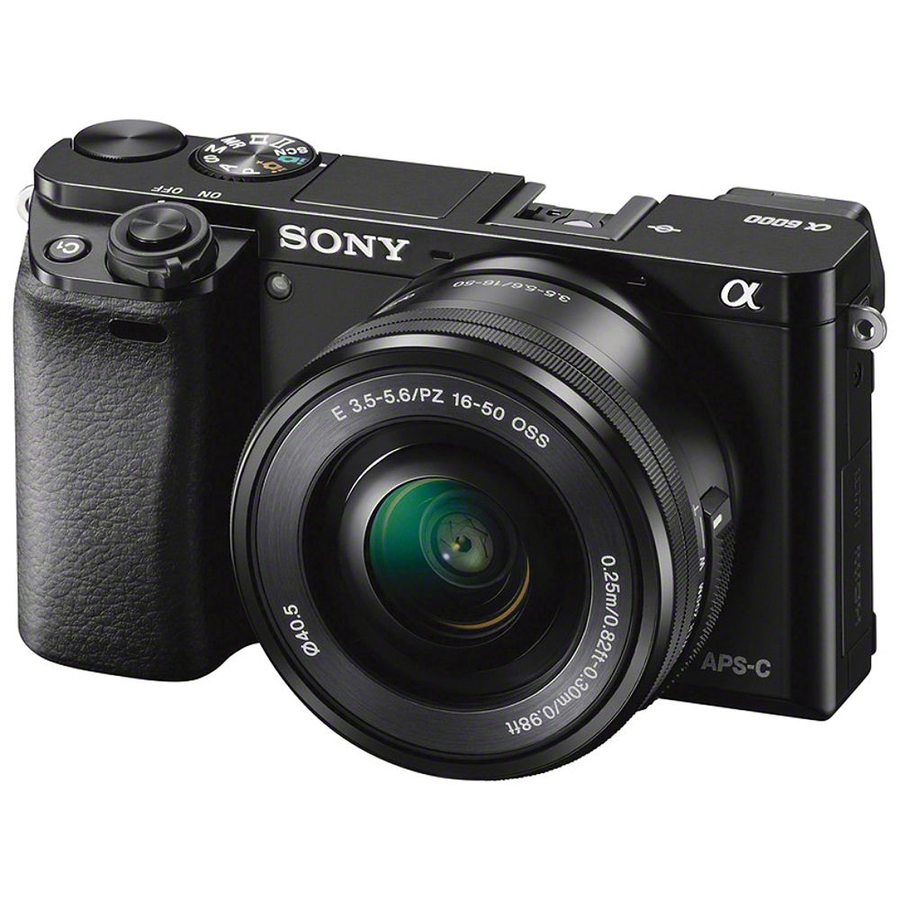 Sony Alpha a6000 24.3 Megapixel Mirrorless Interchangeable Lens Digital Camera with 16-50mm Lens (Black)