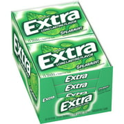 Extra, Sugar Free Spearmint Chewing Gum, 10 Ct