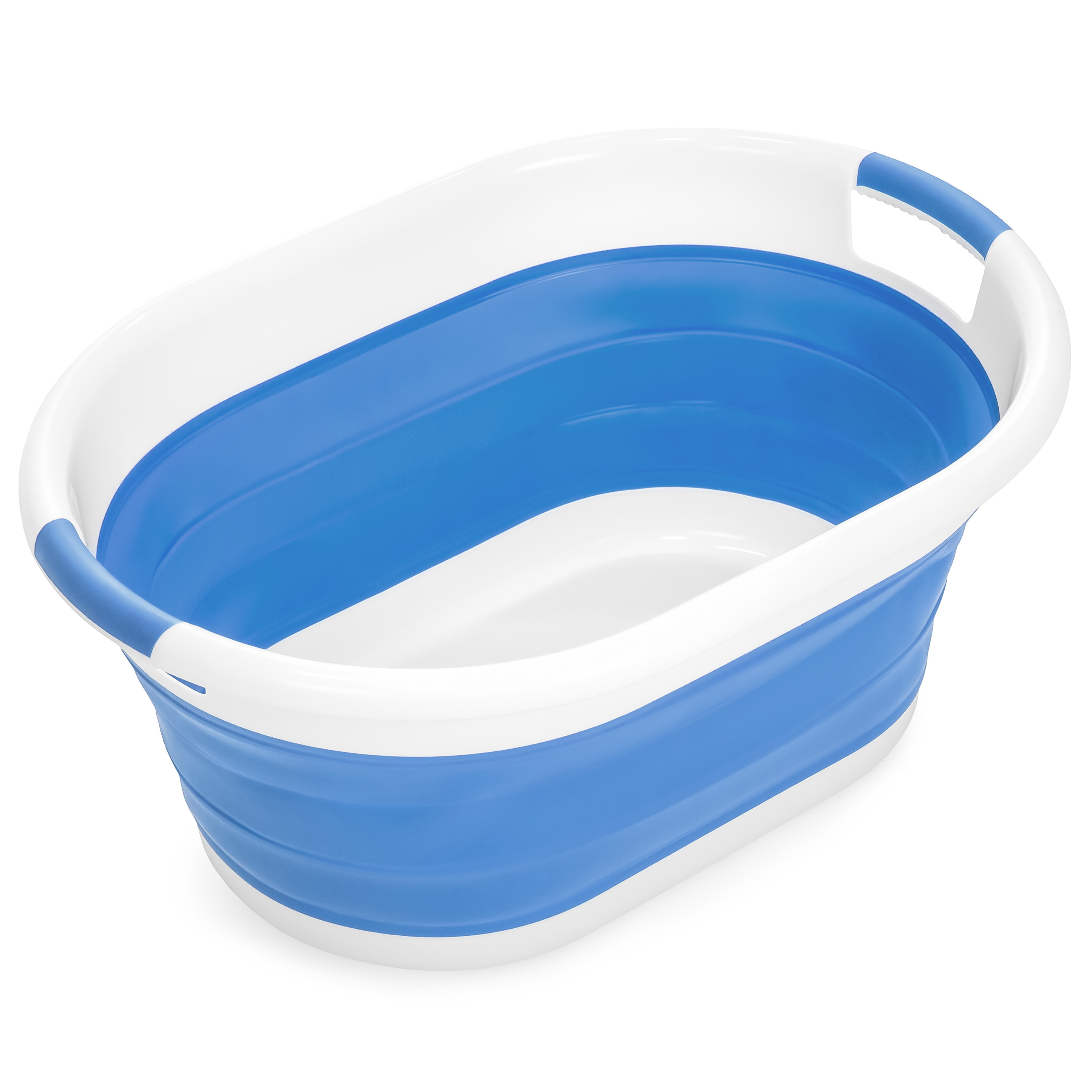 Best Choice Products Collapsible Large Plastic Laundry Basket Storage Container - Blue