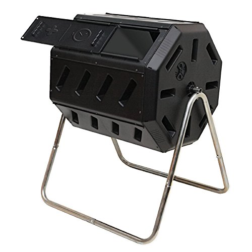Best Selling Home Garden Yard Dual Chamber Steel Frame Durable Lightweight Compost Tumbler... by