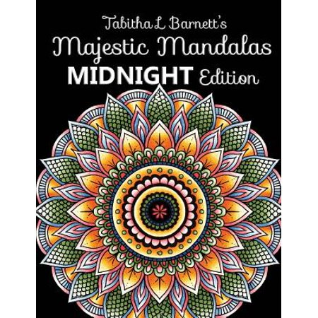 Mandala Collection (Majestic Mandalas Midnight Edition : 100+ Gorgeous Mandalas on Black Backgrounds to Color)