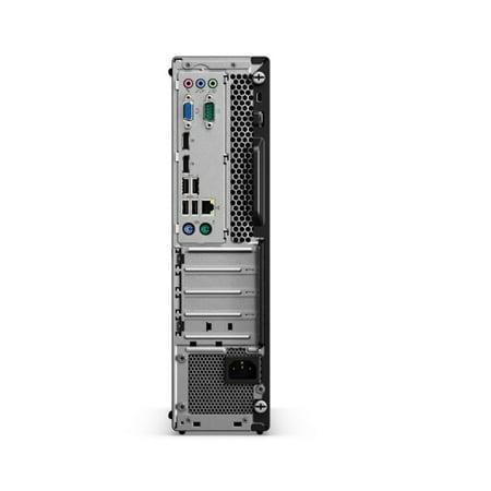 Lenovo ThinkCentre M725s SFF Home and Business Desktop Black (AMD Ryzen 7 PRO 2700 8-Core, 8GB RAM, 1TB PCIe SSD, NVIDIA GT 730, 6xUSB 3.1, 2xDP Port, Optical Drive, Win 10 Pro) - image 4 de 5