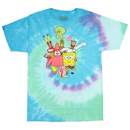 fd6982f31c Hybrid - Officially Licensed SpongeBob SquarePants The Whole Gang Tie-Dye  Men's T-shirt (Medium) - Walmart.com