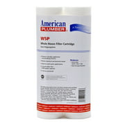 American Plumber W5P Whole House Sediment Water Filter Cartridge (2-Pack)