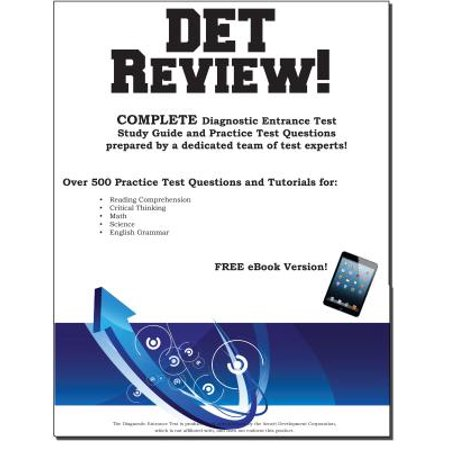 Pass the DET: Diagnstic Entrance Test Study Guide and Practice Test Questions - eBook