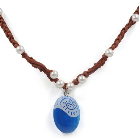 Moana Necklace Costume Accessory Movie Gift For Girls   Heart Of Te Fiti Gorgeous Blue Pendant