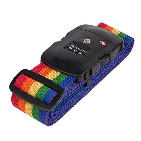 - Oak Leaf Travel TSA Lock 3-Dial Luggage Suitcase Securing Belt Strap