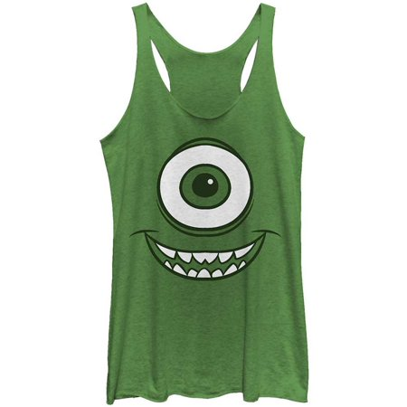 Monsters Inc Women's  Mike Face - Racerback Womens Tank Envy (Women Mobster)