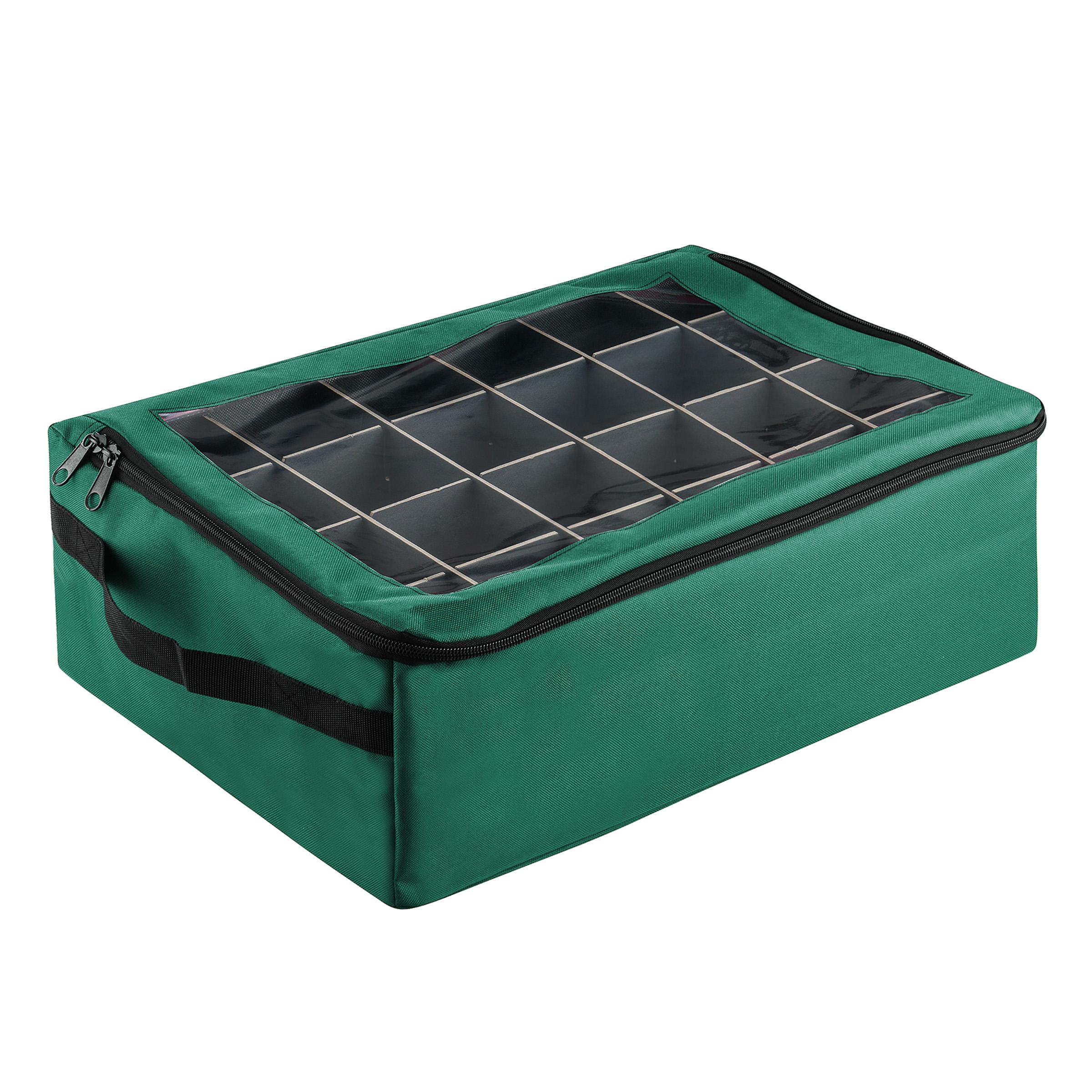 Tiny Tim Totes   Premium   Ornament Organizer   Green