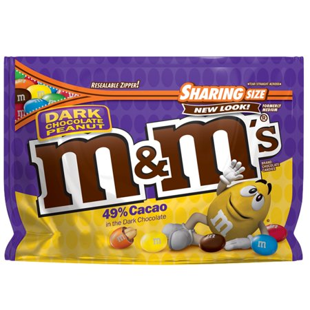 M&M'S Peanut Dark Chocolate Candy Sharing Size, 10.1 Ounce Bag