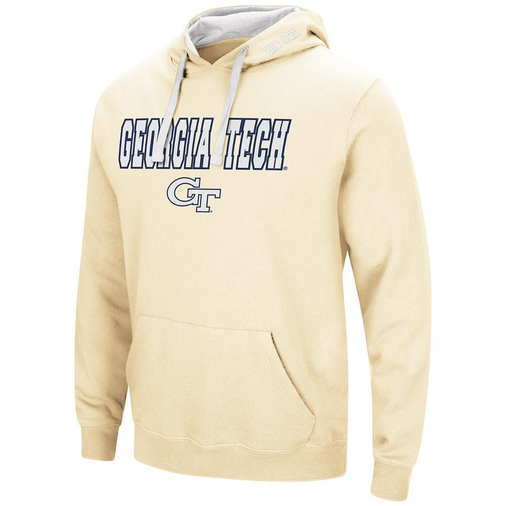 Mens Georgia Tech Yellow Jackets Pull-over Hoodie 2XL by Colosseum