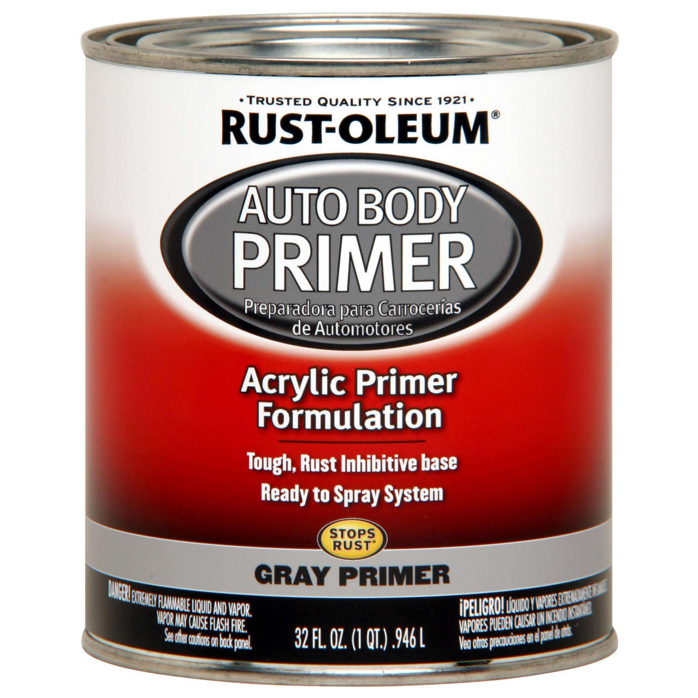 Rust-Oleum Automotive Enamel, Gray Primer, 1 qt