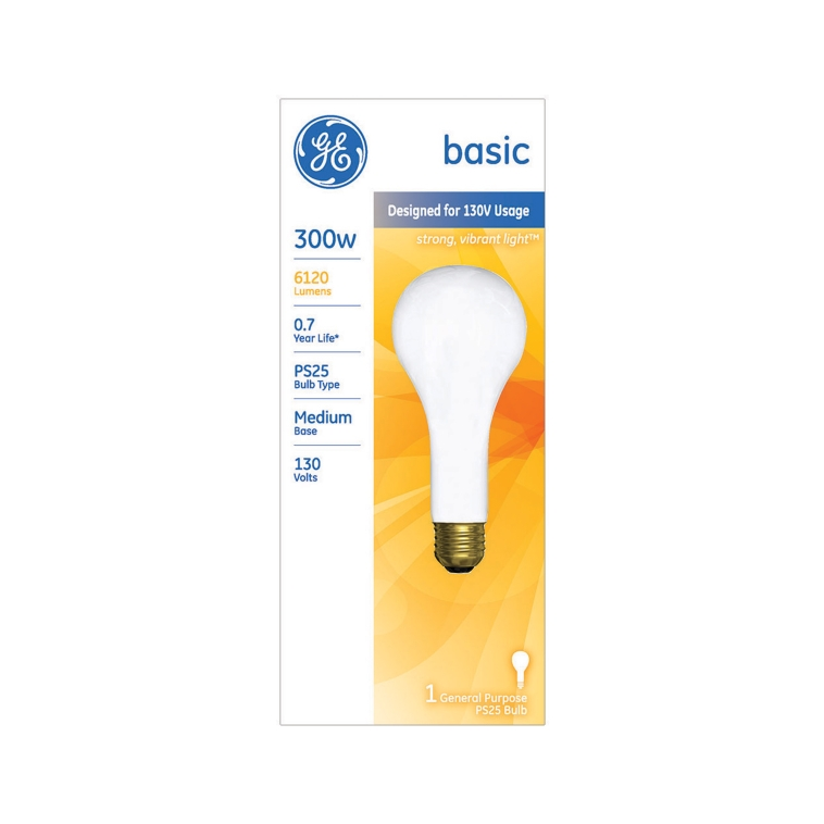 GE Incandescent 300W General Purpose Light Bulb 1pk