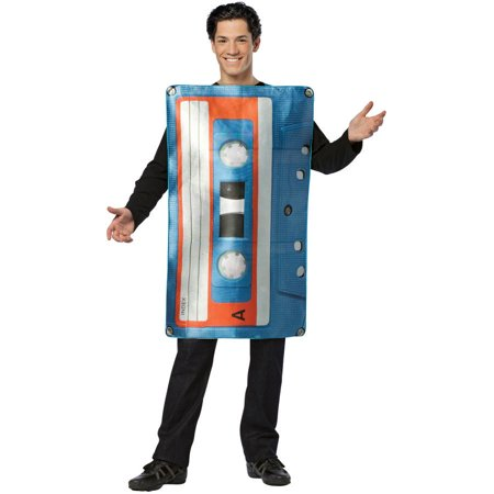 Get Real Cassette Tape Men's Adult Halloween Costume, One Size, (40-46)